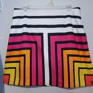 EUC Worthington Color block striped mini skirt